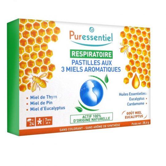Puressentiel Respiratory Pastilles with 3 Aromatic Honeys