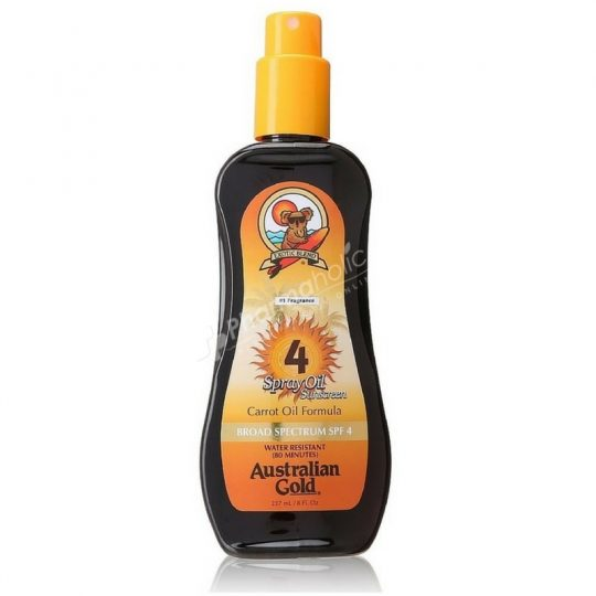 Australian Gold Spray Oil Sunscreen Carrot Oil Formula SPF4