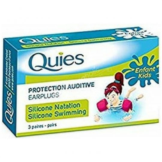 Quies Protection Auditive Silicone Swimming Earplugs For Kids