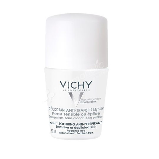 Vichy Deodorant 48 Hour Soothing Anti-Perspirant Roll On -50ml-