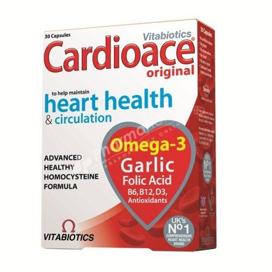Vitabiotics Cardioace Original Heart Health & Circulation -30 tablets-
