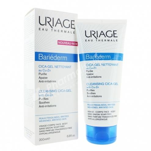 Uriage Bariéderm Cleansing Cica-Gel with Cu-Zn