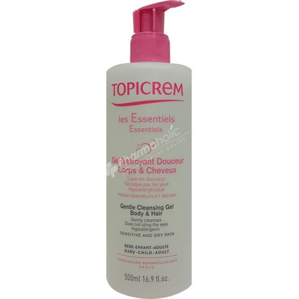 Topicrem Essentials Gentle Cleansing Gel Body and Hair